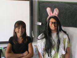 Halloween games in the Library