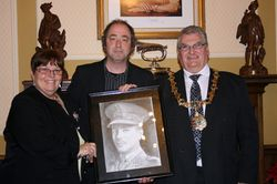 DEAN JOHNSON with the MAYOR OF BIRKENHEAD