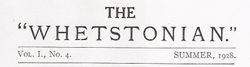 The Whetstonian magazine