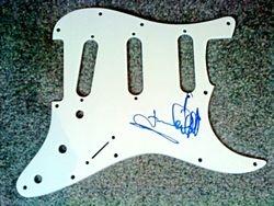 Frankie Valli signed pickguard