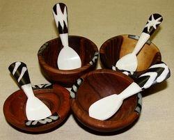 Wood & Bone Bowl with Spoon