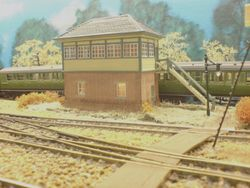 Horsted Keynes Box with new Lamp post
