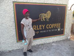 Roland at Tuff Gong Studio Wildfire Records
