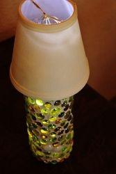 Mosaic Wine Bottle Lamp - Green Glass(2)