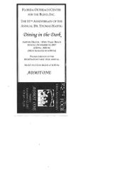 Dining in the Dark Ticket