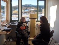 Speaker Torill og klubbtrener Lise.