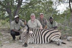 John with his Zebra