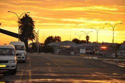 Sunrise over Windhoek Airport