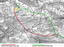 Route of Stockton & Darlington Railway 1866