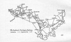 1825 map of Stockton & Darlington Railway