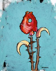 Fish Head Flower painting