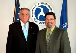 Photo of me with (then Secretary of Transportation) Ray LaHood