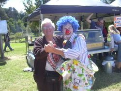 Sylvia with clown
