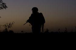 A Marine at Dusk