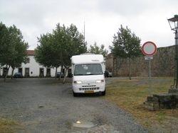 Camperplaats voor het politiebureau