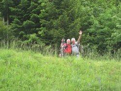 Wandelaars naar Santiago de Compostella