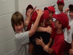 kids celebration  OT win