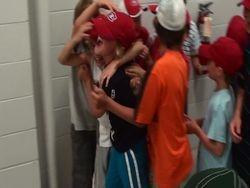 kids celebration win