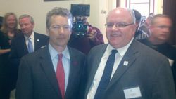 Senator Rand Paul (KY) with Joe Crawford