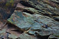Rock Climber, El Dorado Canyon SP, Colorado
