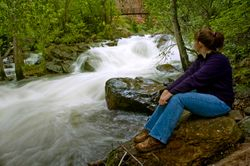 Streamside Hiker at El Dorado SP, CO