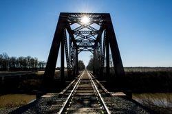 Railroad Bridge at Tillar, Arkansas