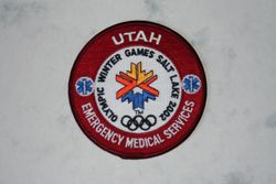 Winter Olympic EMS patch from 2002