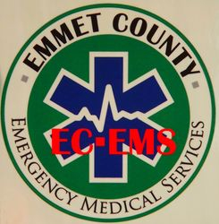 Emmet County EMS vinyl sticker 4inch
