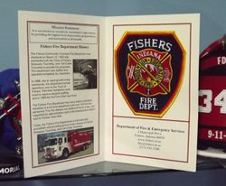 Fisher Indiana - card inside and patch
