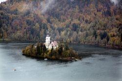 Island on Bled lake