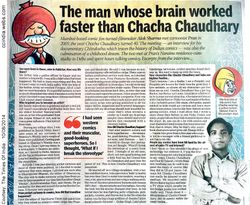 The man whose brain worked faster than Chacha Chaudhary