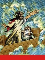 Jesus calms the water