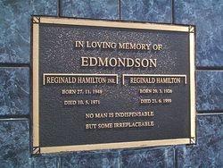 EDMONDSON Reginald Hamilton Jnr