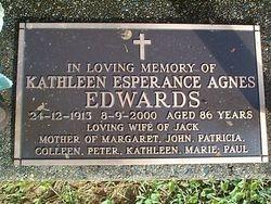 EDWARDS Kathleen Esperance Agnes
