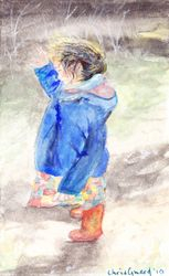 """Windy Mae    Water Colour  7 x 5"""""""