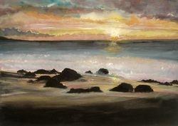 "Rocky Dawn  Water Colour   16 x 12"""
