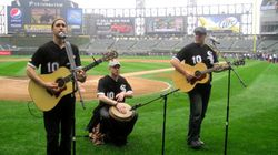 Chris Gelbuda and I backing Matt Santos @ Whiet Sox Game