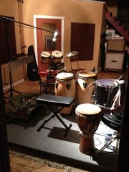 unplugged set up for aryk crowder in the studio