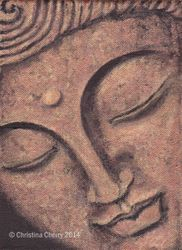 Copper coloured Buddha