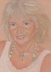 Colour pastel portrait