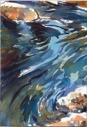 watercolor/ stream study