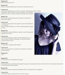 Models EDU interview, 2012