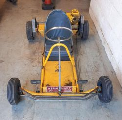 AZUM KART 1960 First owner for a few months was Les Leston, the second owner Jeremy Peters had it for the past 58 years.