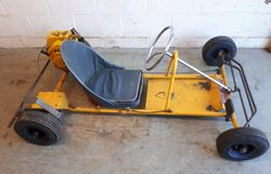 First owner of this AZUM kart was Les Leston for a few months in 1960.