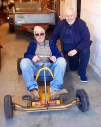 Myself and Jeremy Peters the last owner of the AZUM kart for the last 58 years