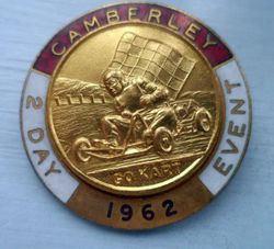 CAMBERLEY 2 DAY EVENT BADGE - 1962  X2