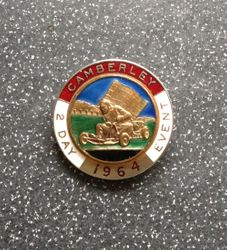 CAMBERLEY 2 DAY EVENT BADGE - 1964