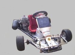 Paul Rixons Keg 1 Kart with the original Arrow engine.