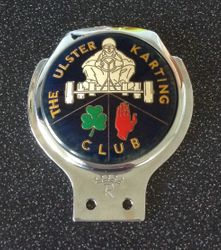 THE ULSTER KARTING CLUB CAR BADGE