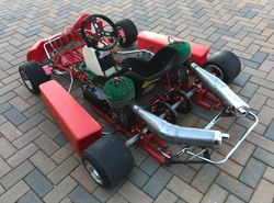 Achille Parilla made this 1 of 4 twin Ital Corse kart in 1996